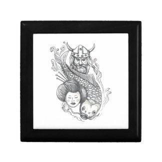 Viking Carp Geisha Head Tattoo Gift Box