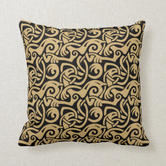 Viking Celtic Intertwining Animal Pattern Cushion