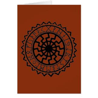 Viking Celtic Sun Rune Calendar Card