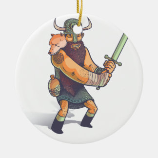 Viking Ceramic Ornament