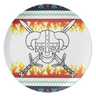 viking christmas plate