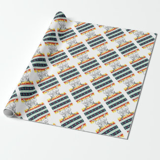 viking christmas wrapping paper