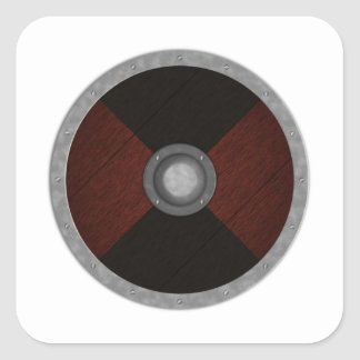 Viking Circle Shield Square Sticker