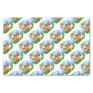 viking corgi tissue paper