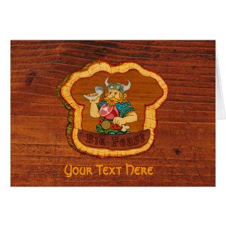 Viking Customizable Text Greeting Card