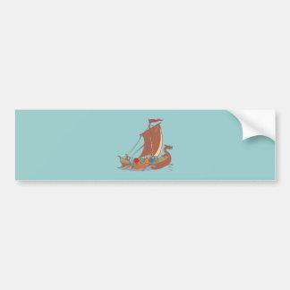 Viking dragon boat Viking dragon boat Bumper Sticker
