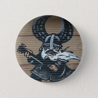 Viking guitarist Graffiti, Berlin, Germany 6 Cm Round Badge