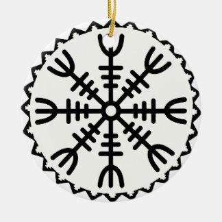 Viking Helm of Awe Ceramic Ornament