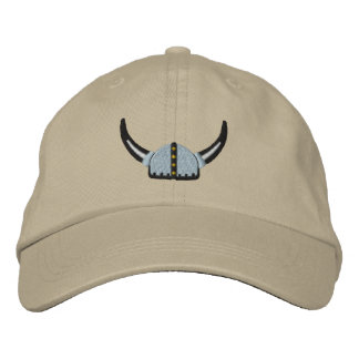 Viking Helmet Fierce Scandinavian Warrior Embroidered Hat