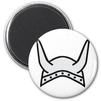 viking helmet icon 6 cm round magnet