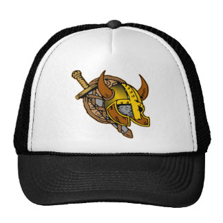 Viking Helmet, Sword & Shield Tattoo Cap