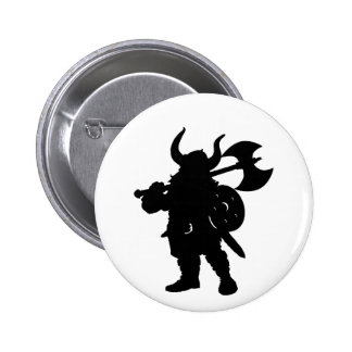 Viking in Silhouette with axe over shoulder Buttons