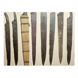Viking iron blades for swords postcard
