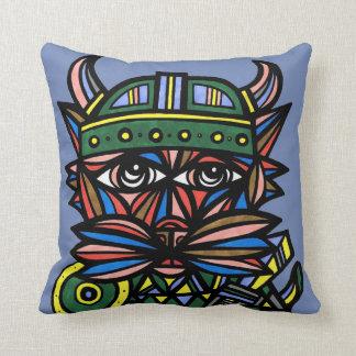 """Viking Kat"" BuddaKats Throw Pillow"