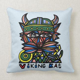 """Viking Kat"" BuddaKats Throw Pillow 20"" x 20"""