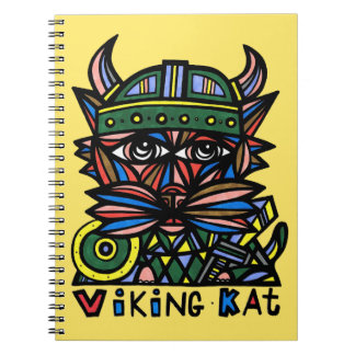 """Viking Kat"" Spiral Notebook"