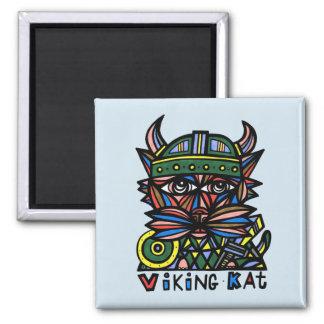 """""""Viking Kat"""" Square Magnet"""