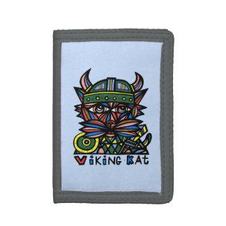 """Viking Kat"" TriFold Nylon Wallet"