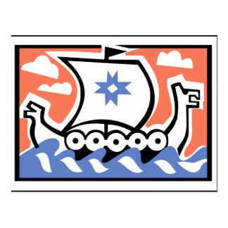 Viking Longboat Postcard