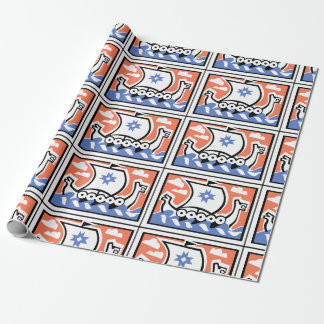 Viking Longboat Wrapping Paper