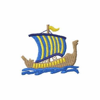 Viking Longship Embroidered Polo Shirt