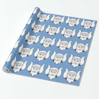 Viking on Blue Wrapping Paper