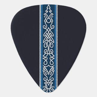 Viking Pattern Blue Guitar Pick