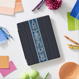 Viking Pattern Blue iPad Cover