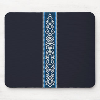 Viking Pattern Blue Mouse Pad