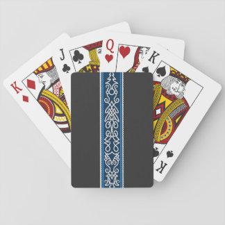 Viking Pattern Blue Playing Cards