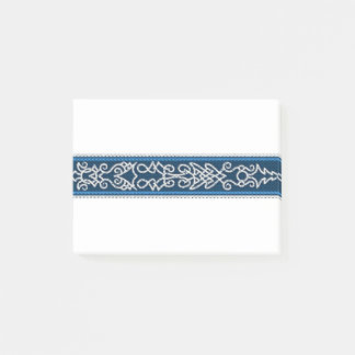 Viking Pattern Blue Post-it Notes