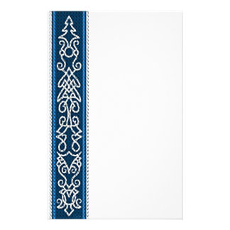Viking Pattern Blue Stationery
