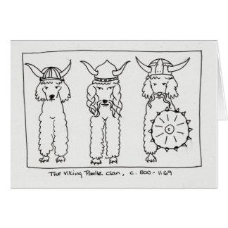 Viking Poodle Card