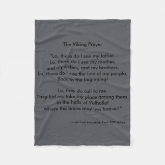 Viking Prayer by Michael Alexander Fleece Blanket