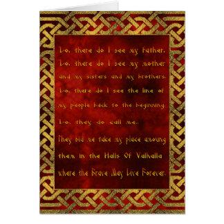 Viking Prayer Greeting Card