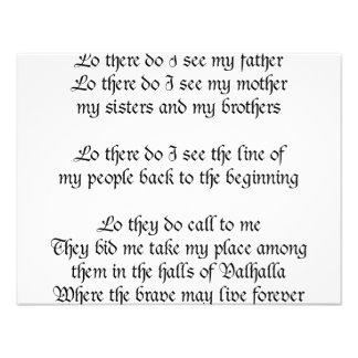 Viking Prayer Lo There Do I See My Father Custom Invitation