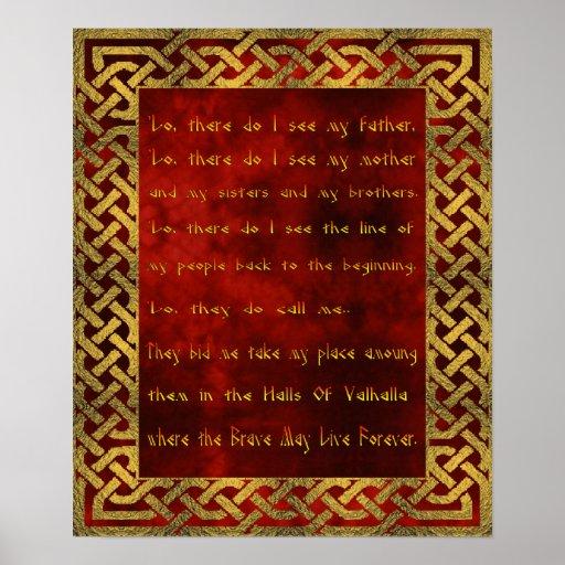 Viking Prayer Poster