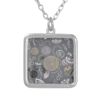 Viking Primitive Silver Plated Necklace