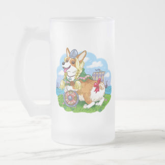 Viking Princess Frosted Glass Beer Mug