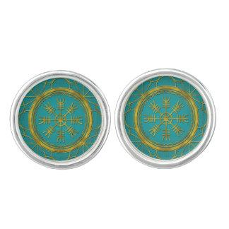 Viking protection runes helm of awe talisman cuff links