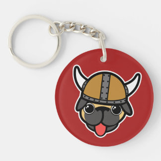 Viking Pug Key Ring