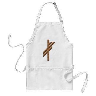 Viking rune - luck - rust aprons