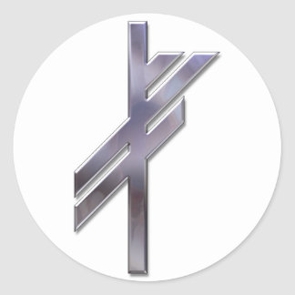 Viking Rune-luck-silver Classic Round Sticker