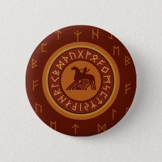 Viking Runes 6 Cm Round Badge