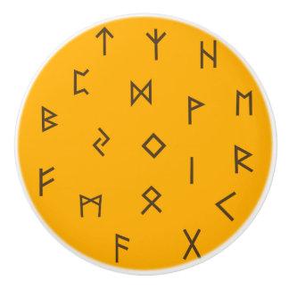Viking Runes Ceramic Knob