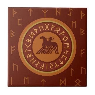 Viking Runes Ceramic Tile