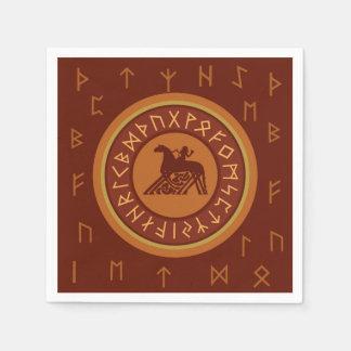 Viking Runes Disposable Napkin