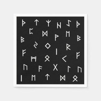 Viking Runes Disposable Serviette