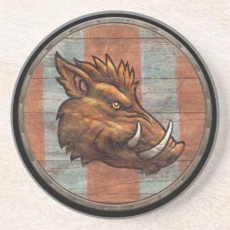 Viking Shield - Boar Coaster