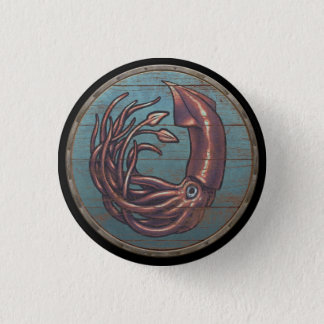 Viking Shield Button - Kraken